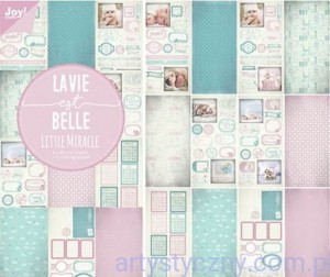 Papiery Ozdobne Joy - Little Miracle, Lavie Belle - 15x30cm - die cut - 6011/0384