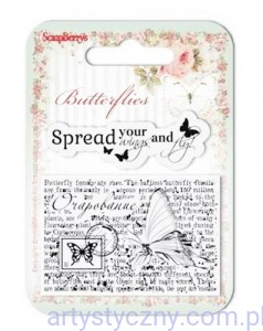 Stemple Ozdobne - 7x7cm - Butterflies - Wings - SCB4907003B