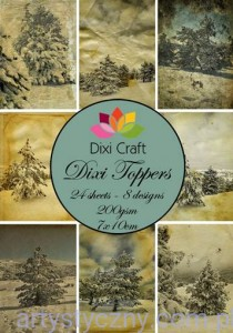 Papiery Dixi Toppers Crafts - 24 sheets ET0006