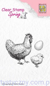 Stemple Akrylowe Nellie - Hen chicken and egg SPCS004