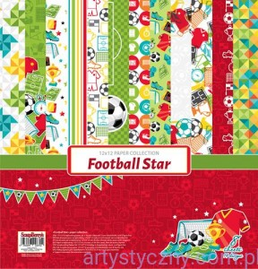 Papiery Ozdobne ScrapBerry's Football Star , 8 ark 30x30 сm SCB220611300B