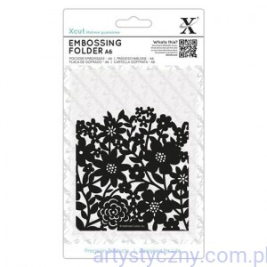 Xcut A6 Embossing Folder Flower Curtain XCU 515230