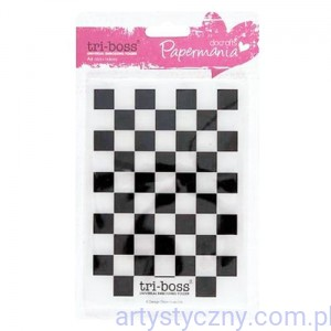 Papermania Chequered A6 TriBoss Embossing Folder - Szachownica