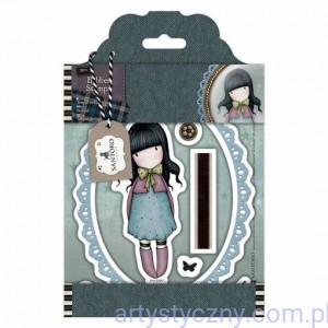 Gorjuss Rubber Stamps - Santoro Tweed - Waiting
