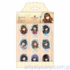 Gorjuss Mini Character Rubber Stamps - 9 szt