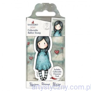Gorjuss Mini Rubber Stamp - Let Down GOR 907159