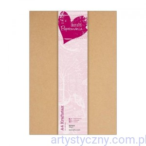 Papermania Kraftstax - Baza do Kartek Kraft 25 ark A4 - 280g