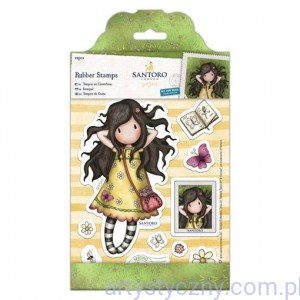 Gorjuss Large Rubber Stamps - Santoro - Spring At Last - 12 szt
