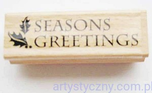 Stempel Gumowy Drewniany Dovecraft - Seasons Greetings