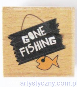 Stempel Ozdobny Smirk ~ Gone Fishing