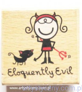 STEMPEL drewniany SMIRK NbN ~ Eloquently Evil