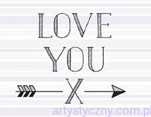 Stempel Akrylowy - Love You 014