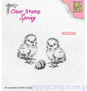 Stempel Akrylowy Nellie - Chicken and Easter egg - Kurczaczki Pisanka SPCS008