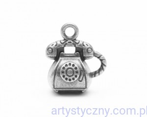 Metal Charms - Retro Phone - Telefon - 4 szt