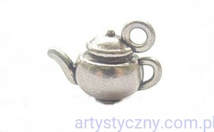 Metal Charms set Tea Party - Czajniczek - 4 szt