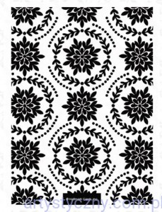 Xcut A6 Embossing Folder -  Ornate Foliage - Ozdobne Liście