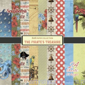 Papiery Ozdobne ScrapBerry's - The Pirate's Treasure, 12 ark 15х15 сm