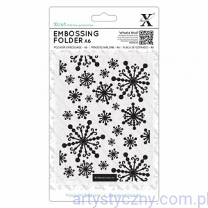 Xcut A6 Embossing Folder Beautiful Snowflakes - Piękne Śnieżynki