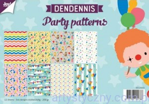 Papiery Ozdobne Joy A4 - Party Patterns 12xA4 -6011/0555
