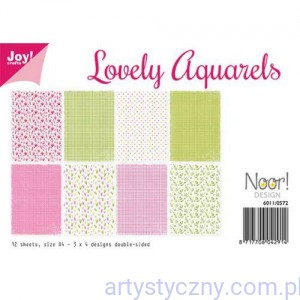 Papiery Ozdobne Joy - Lovely Aquarels 12xA4 - 6011/0572
