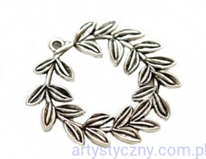 Metal Charms - Laurel Wreath - Wieniec Laurowy - 4 szt