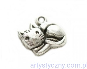 Metal Charms - Little Kitten - Kotek  - 4 szt