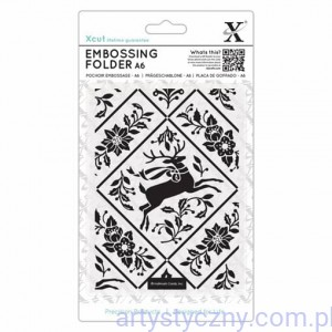 Xcut A6 Embossing Folder - Stag and Ivy XCU 515923