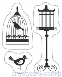 Stemple Akrylowe ~ Birds with Cage - Ptaszki i Klatki 1063