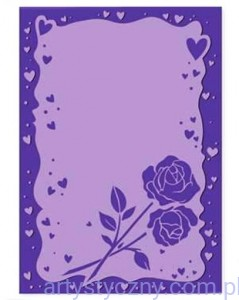Folder CartUs - Rose and Hearts - Róże Serduszka Ramka 8022