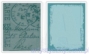 2 Foldery Sizzix Distressed Frame and Postal Set SIZ 657196