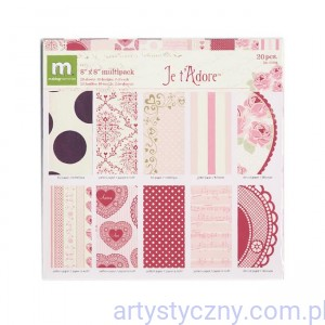 Making Memories - Je t'Adore- Valentine -  Specialty Paper Pack - 20x20cm, 10 ark