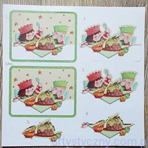 Dear Santa Die-Cuts Brokat 3D - Xmas Pudding - nr4