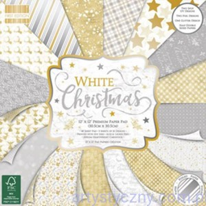 Papier Ozdobny First Edition - White Christmas 30x30cm - 48 ark