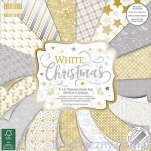 Papier Ozdobny First Edition - White Christmas 20x20cm - 48 ark