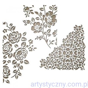 Wykrojniki Sizzix Thinlits 3 szt - Mixed Media #5  Kwiaty Ornamenty SIZ 662688