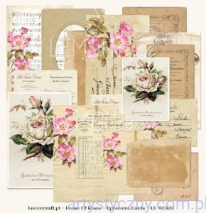 Ephemera cards - House of Roses, 24 psc