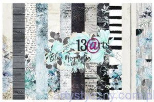"Papiery do Scrapbookingu - Blue Magnolia 12""x12"""