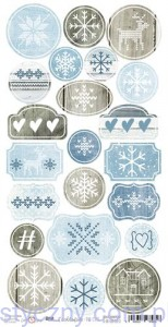Brrr... it's cold outside - die cuts 16x32cm