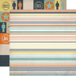 Papier do Scrapbookingu, Brothers Stripe, 30x30сm