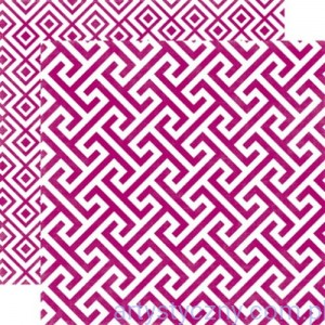 Papier do Scrapbookingu, Mulberry Geometric 30x30сm