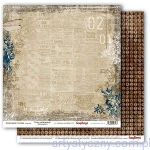 Papier do Scrapbookingu, Words Live Forever, Tonite on Broadway 30x30сm