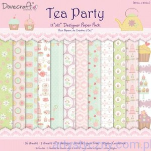 Papiery do Scrapbookingu, Tea Party 15x15cm. 12 ark
