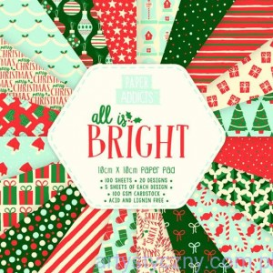 Papier do scrapbookingu, All Is Bright, 10x10cm, 100 ark