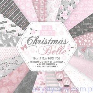 Papier do scrapbookingu, Christmas Belle, 10x10cm, 100 ark