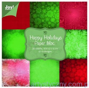 Papiery Ozdobne Joy - Happy Holidays - 15x15cm - 36 ark