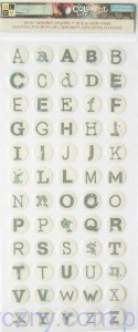 DCWV Epoxy Alphabet Stickers - Naklejki Żelowe - Colorful Life - ALFABET