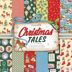 Papiery do Scrapbookingu - Christmas Tales, 15x15cm, 12 ark