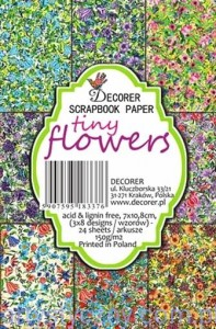 Papiery Mini do Scrapbookingu M40, Tiny flowers 24 ark
