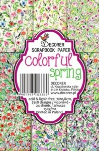 Papiery Mini do Scrapbookingu M41, Colorful spring 24 ark