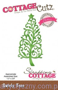 Wykrojnik CottageCutz Swirly Tree - Ornamentowa Choinka